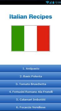 Italian Recipes ! poster
