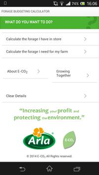 Arla Forage Budgeting App poster