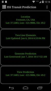 ISS Transit Prediction Free apk screenshot