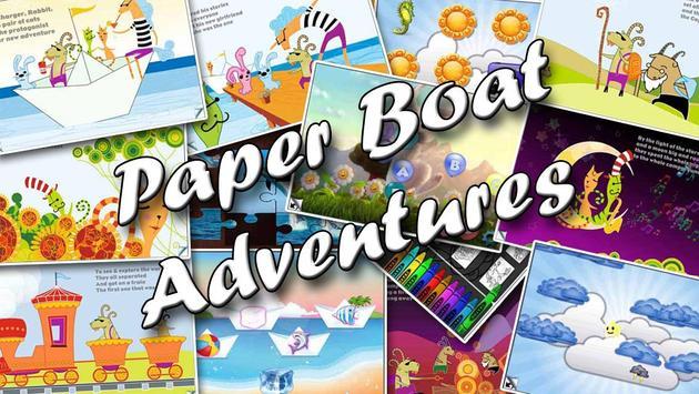 Paper boat ebook poster