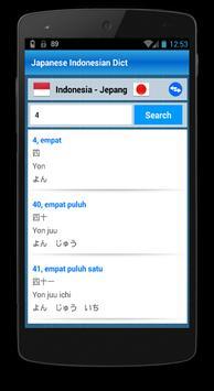 Dictionary Japang Indonesia apk screenshot