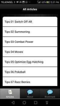 Tips for Pokemon GO apk screenshot