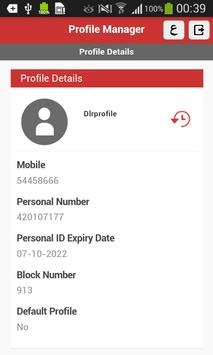 Profile Manager apk screenshot