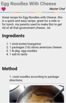 Egg Noodle Recipes Full apk screenshot