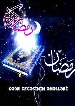 Qadr gecəsinin əməlləri poster