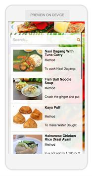 Asian food apk screenshot