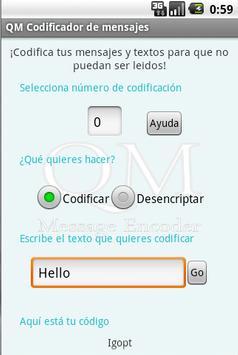 QM Message Encoder poster