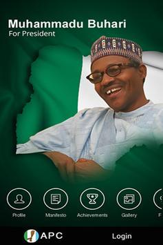 Support Buhari/Osinbajo 2015 poster