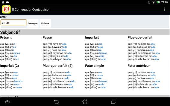 El Conjugador Free apk screenshot