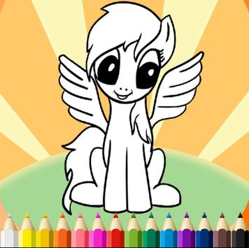Little Pony Coloring book kids apk screenshot