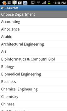 WPI Courses poster