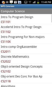 WPI Courses apk screenshot