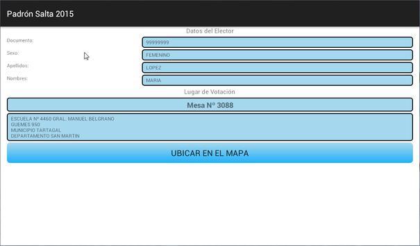 Padrón Salta 2015 - Offline apk screenshot