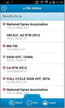e-file Status apk screenshot