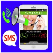 Spoken Caller Name and SMS icon