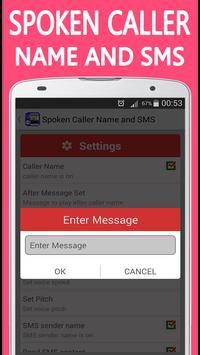 Spoken Caller Name and SMS apk screenshot