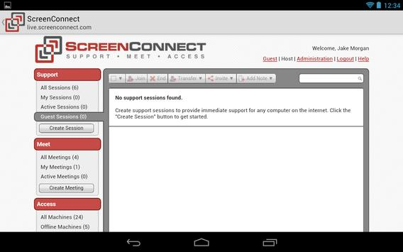 ScreenConnect Legacy apk screenshot
