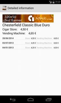Tobacco Prices in Spain apk screenshot