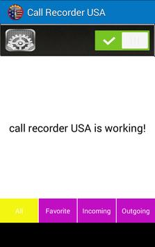 CALL RECORDER U.S.A apk screenshot