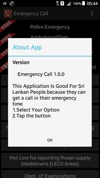 Emergency Call apk screenshot