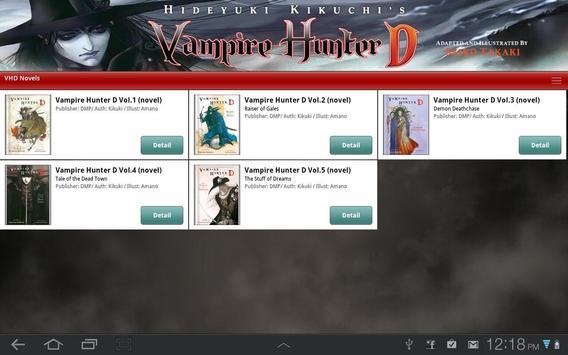 Vampire Hunter D Store apk screenshot