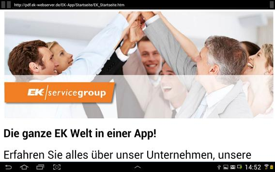 EK servicegroup apk screenshot