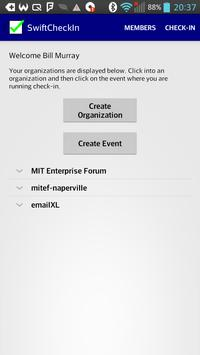 Swift Check-In Attendee App poster