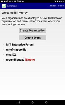 Swift Check-In Attendee App apk screenshot