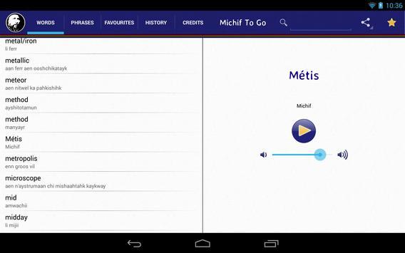 Michif To Go apk screenshot