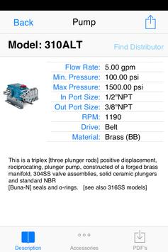 Cat Pumps Product Tools apk screenshot