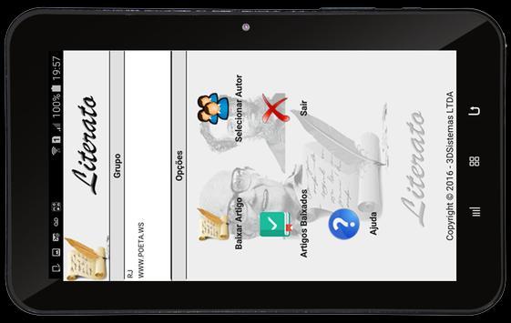 Literato App Leitor de textos apk screenshot