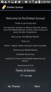 Embee Survey - Global Edition apk screenshot