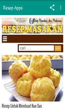 Resep Masakan Makanan dan Kue apk screenshot