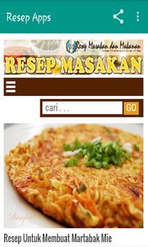Resep Masakan Makanan dan Kue poster