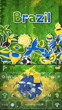 Brazil 2016 Emoji iKeyboard poster
