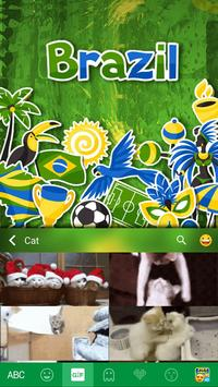Brazil 2016 Emoji iKeyboard apk screenshot