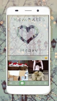 Romantic Emoji Keyboard Theme apk screenshot