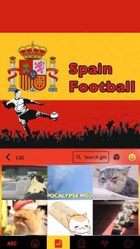 Spain Football Emoji iKeyboard apk screenshot