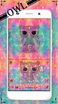 Owl Emoji Theme for iKeyboard poster