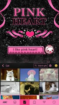 Pink Heart Theme for iKeyboard apk screenshot