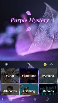 Purple Mystery Emoji Keyboard apk screenshot
