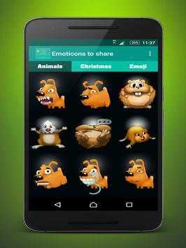 Emoticons to share apk screenshot
