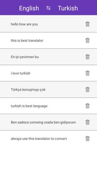 English Turkish Translator apk screenshot