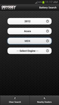 ODYSSEY® Battery Search apk screenshot