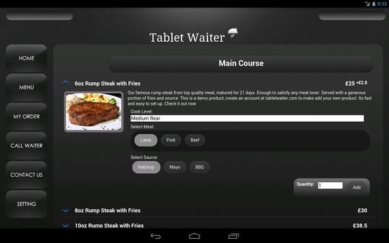 Tablet Waiter apk screenshot
