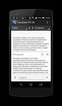 Portuguese-English translator apk screenshot