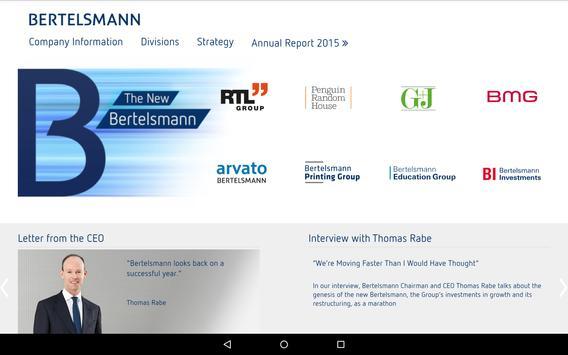 Bertelsmann Annual Report 2015 poster