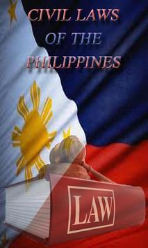 PHILIPPINE CIVIL LAWS poster