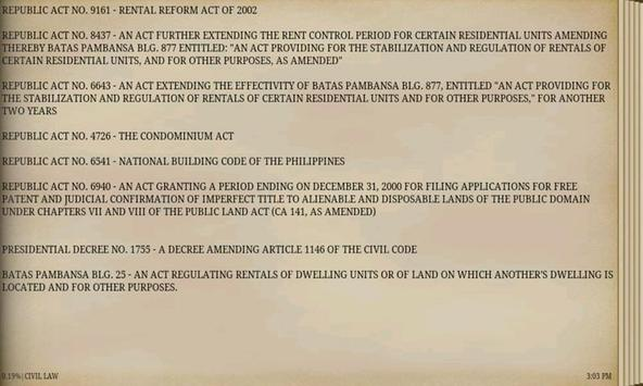 PHILIPPINE CIVIL LAWS apk screenshot