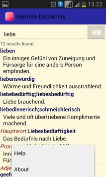 Germany Dictionary|Wörterbuch apk screenshot